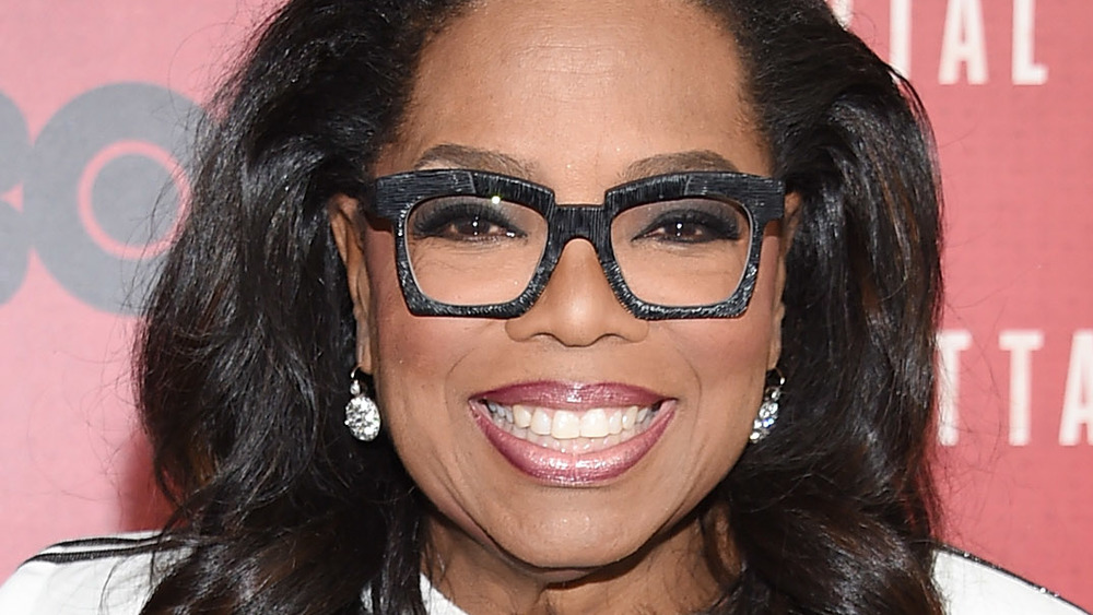 Oprah with square-rimmed glasses