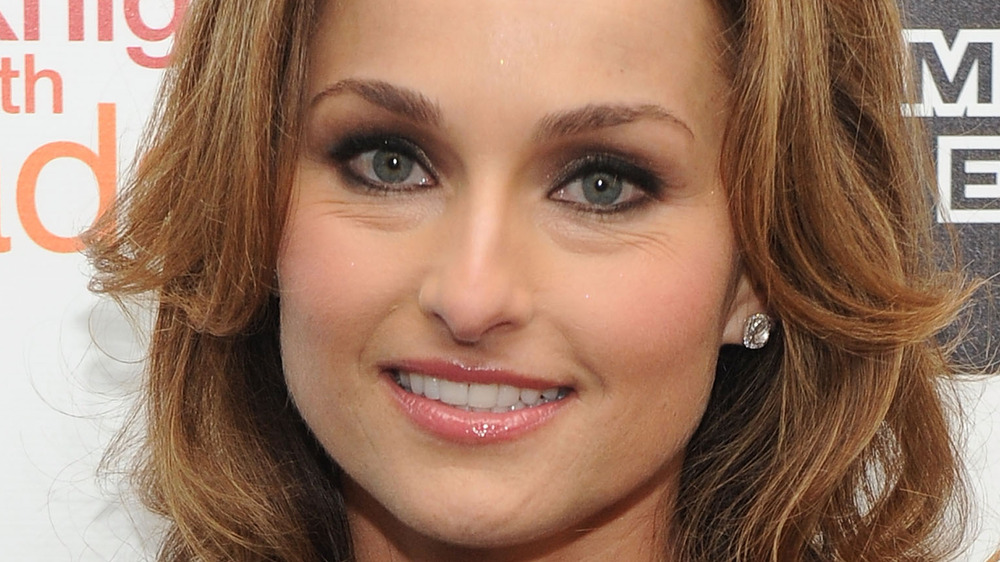 Giada De Laurentiis smiles for the cameras at an industry event