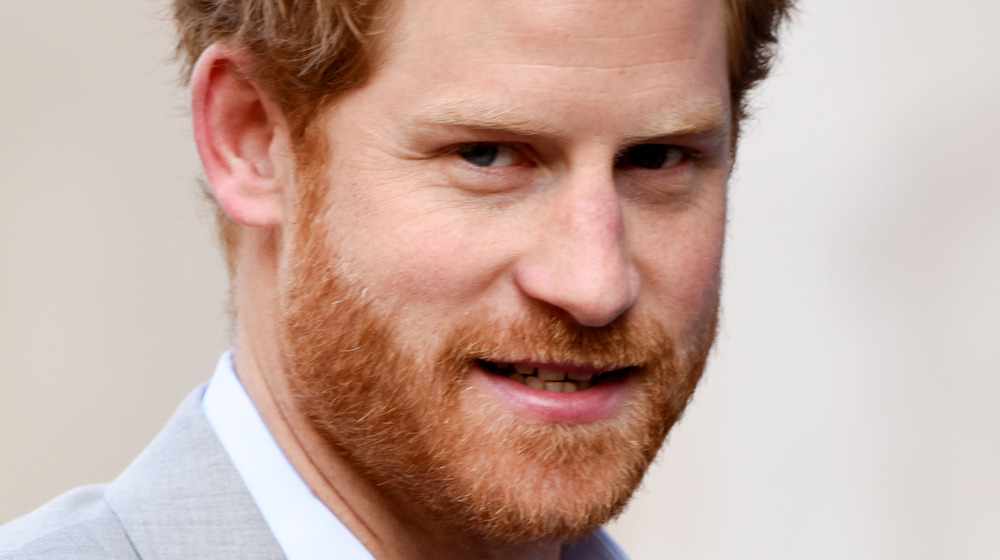 Prince Harry staring off