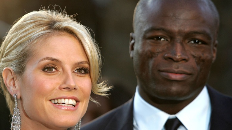 Heidi Klum and Seal on the red carpet