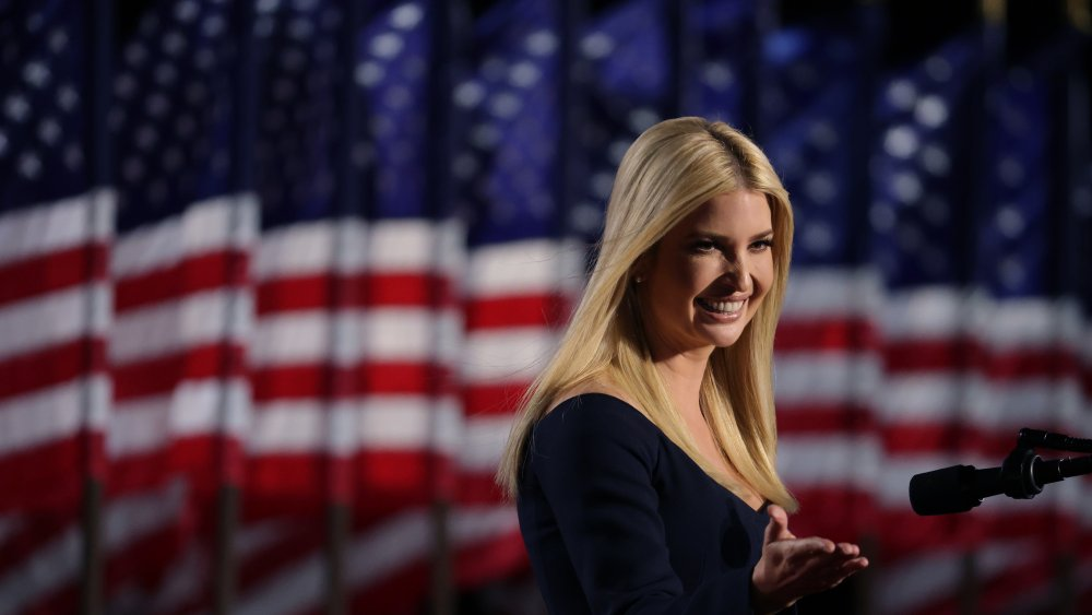 Ivanka Trump on stage during the RNC