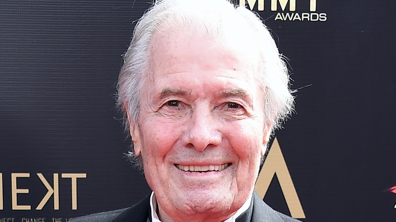 Jacques Pepin poses on the red carpet