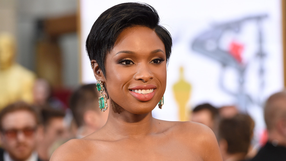 Jennifer Hudson smiling on the red carpet