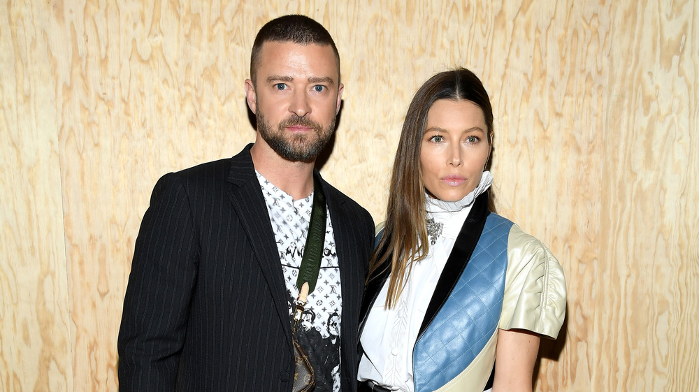 Jessica Biel and Justin Timberlake at an event