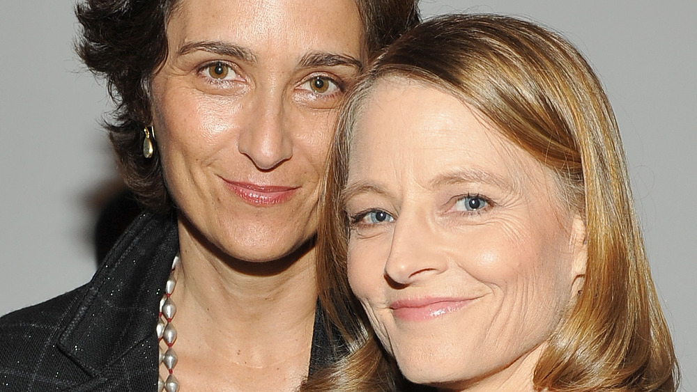 Jodie Foster and wife Alexandra Hedison at the Hammer Museum