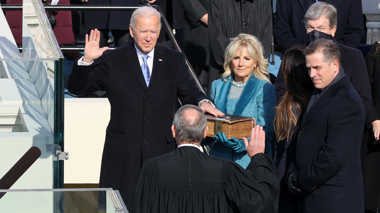 Joe Biden's Body Language During His Inauguration Spoke Volumes