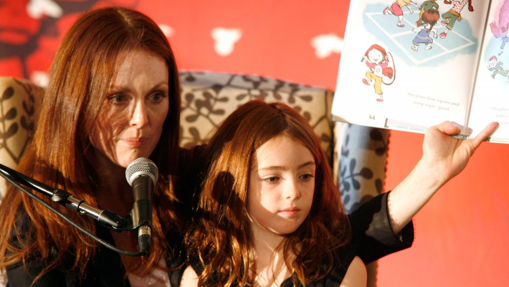 Liv Freundlich as a girl with her mother promoting a book