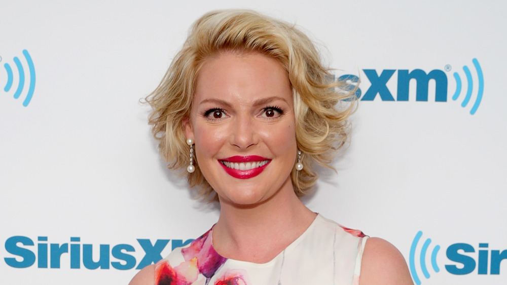 Katherine Heigl wears floral dress