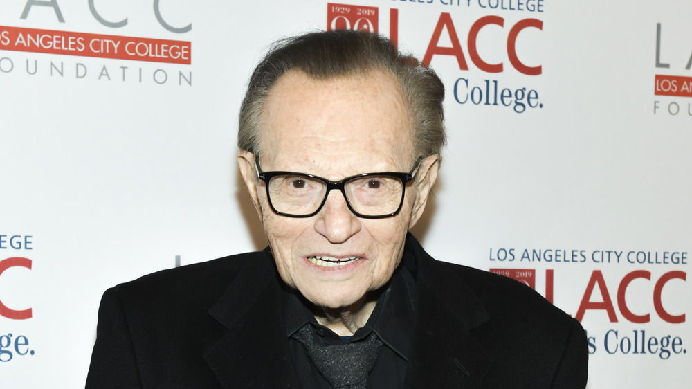 Larry King on a red carpet