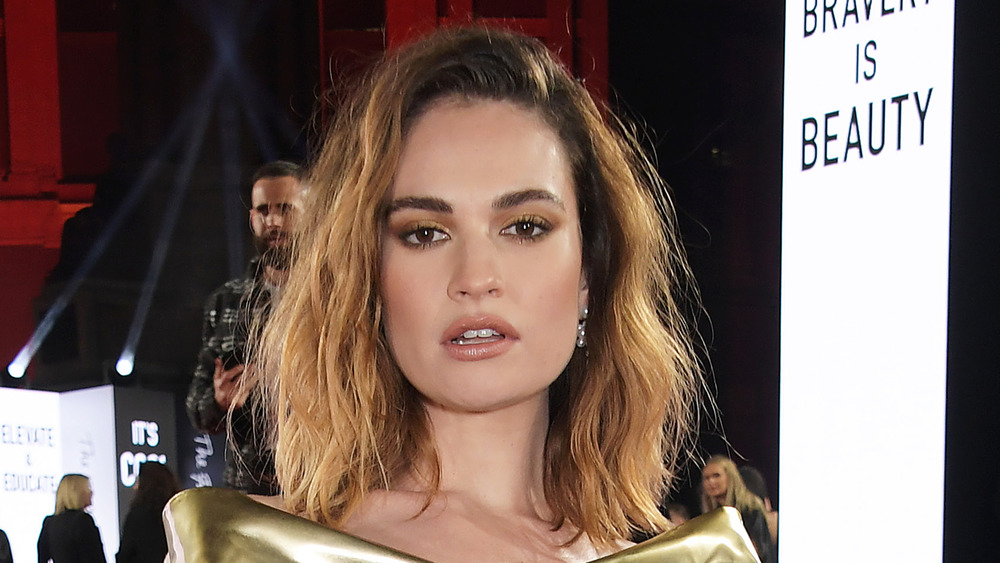 Lily James at The Fashion Awards 2019