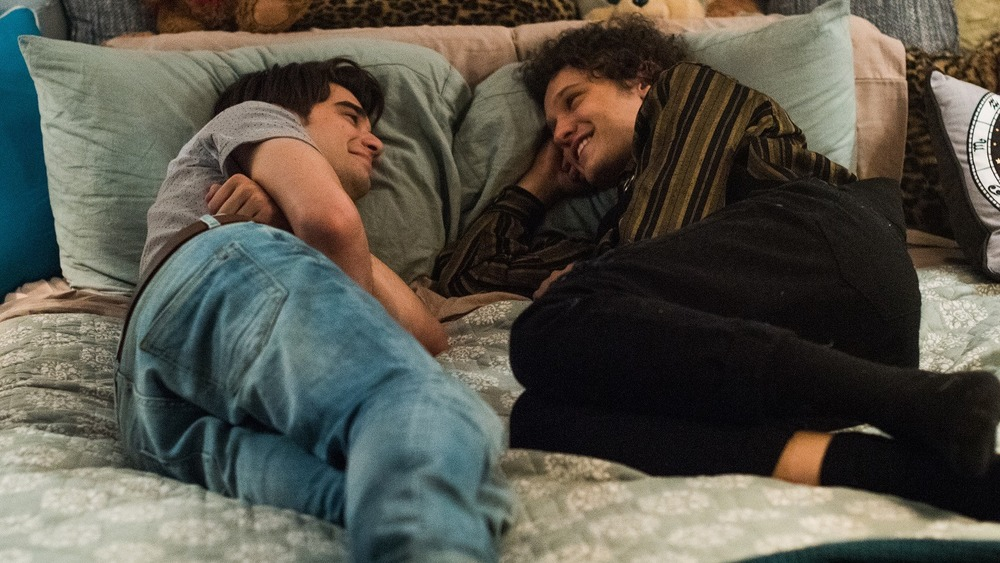 Alex and Elliot in bed