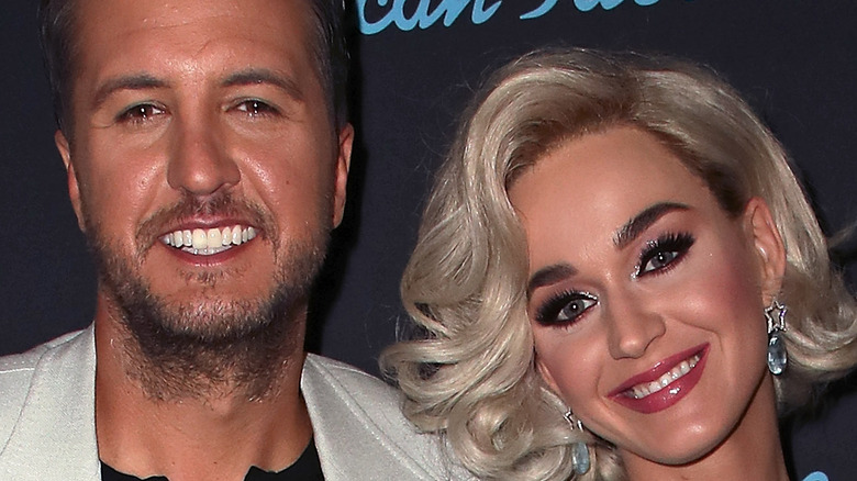 Katy Perry and Luke Bryan smiling