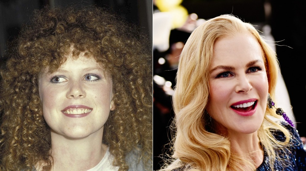 Nicole Kidman at age 16 and in 2020