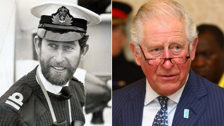 Prince Charles young and old