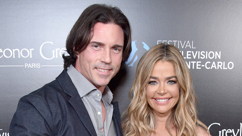 Denise Richards and Aaron Phypers attend the 60th Anniversary Party For The Monte-Carlo TV Festival at Sunset Tower Hotel on February 05, 2020 in West Hollywood, California.