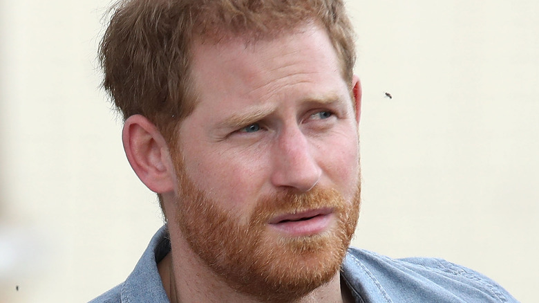 Prince Harry squinting