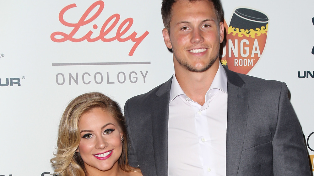 Shawn Johnson and Andrew East at event