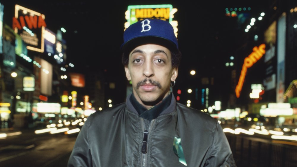 Gregory Hines outside on a city street