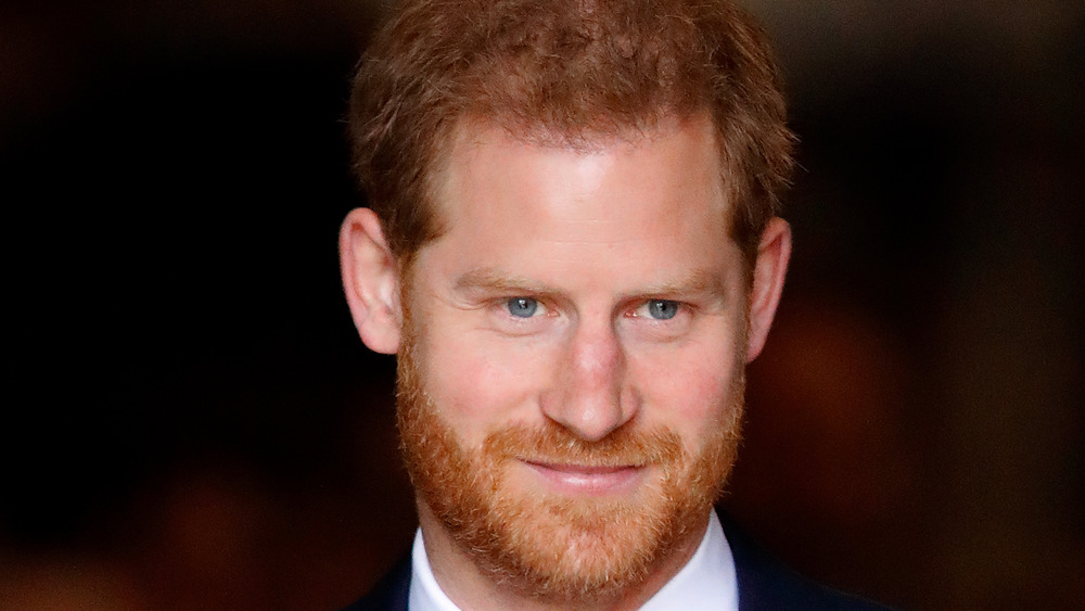 Prince Harry smiling, close-up