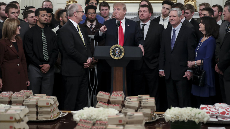 Trump White house fast food