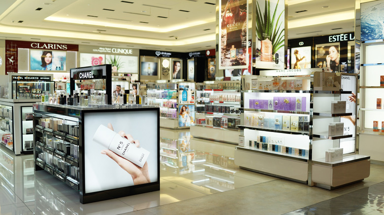 Beauty section of department store