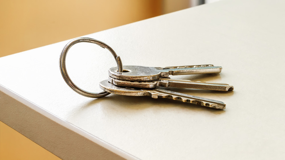 Keys on a counter