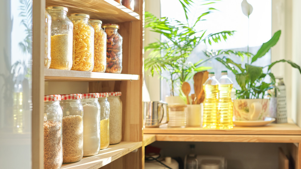 Pantry of full jars