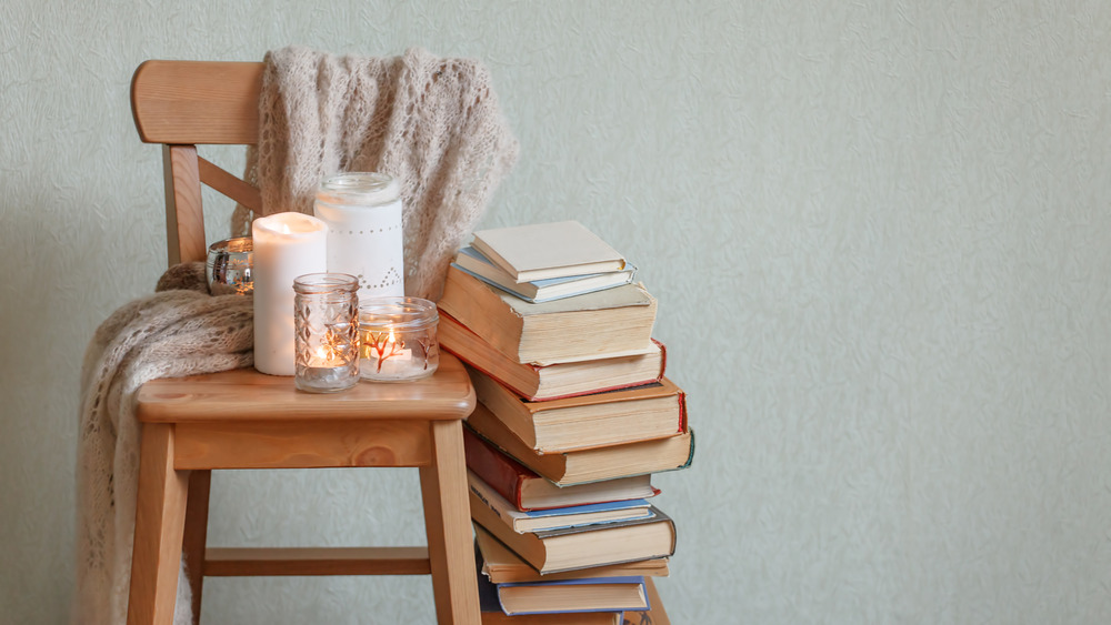 Candles and books