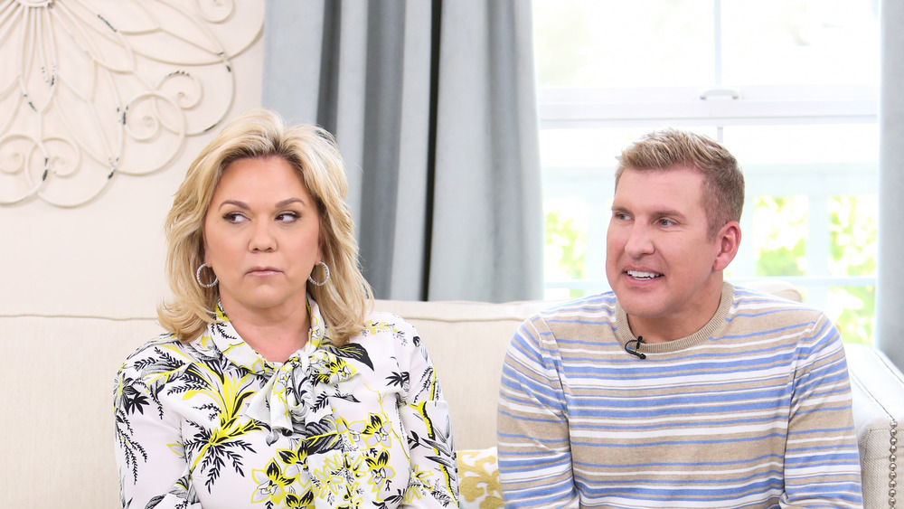 Todd and Julie Chrisley on a couch