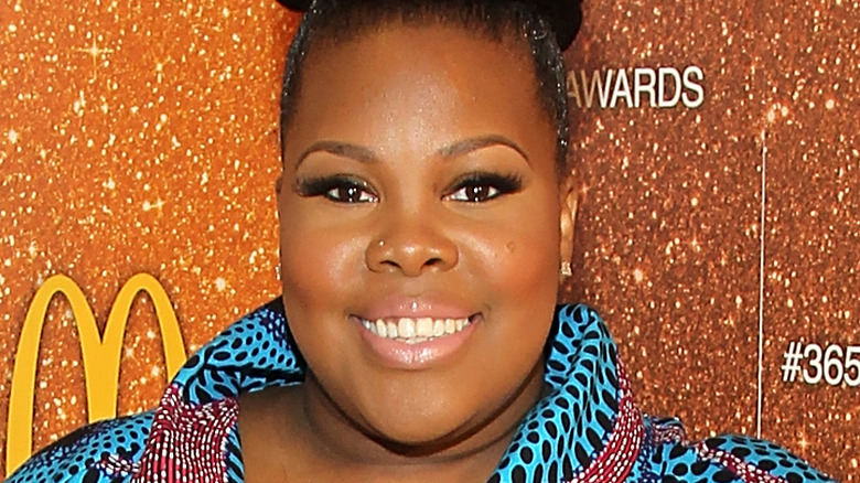 Amber Riley on the red carpet