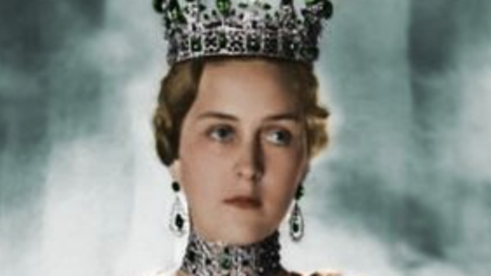 Princess Cecilie of Greece wearing crown