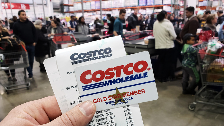 Costco membership and sales receipt