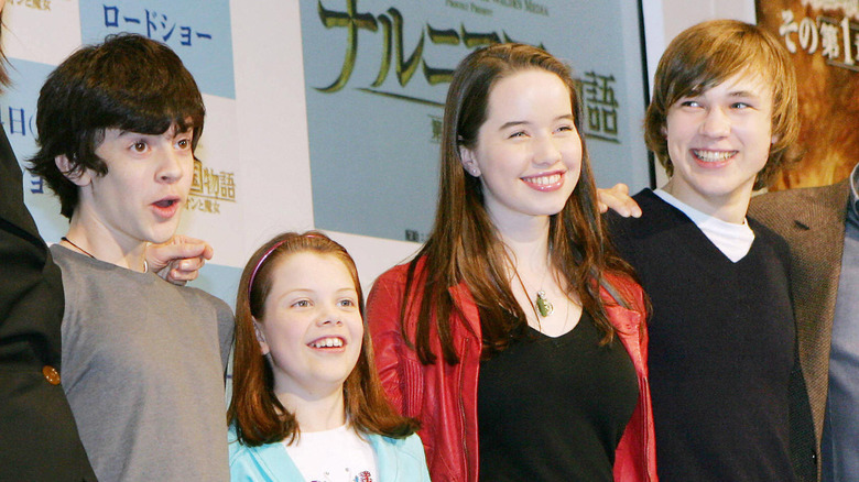 The kids from the Narnia movies, Skandar Keynes, Georgie Henley, Anna Popplewell, William Moseley