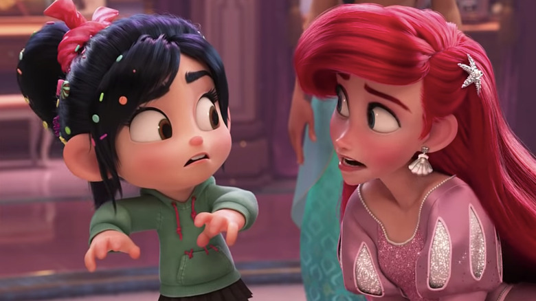 Vanellope with the Disney Princesses in Disney crossover
