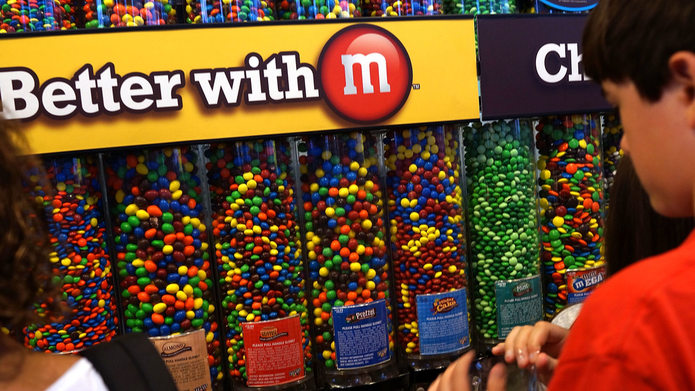 Assorted M&Ms dispensers