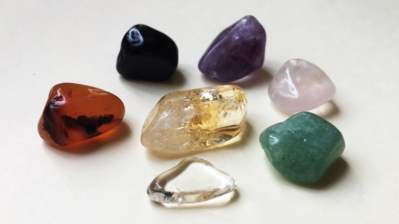 Seven colorful crystals