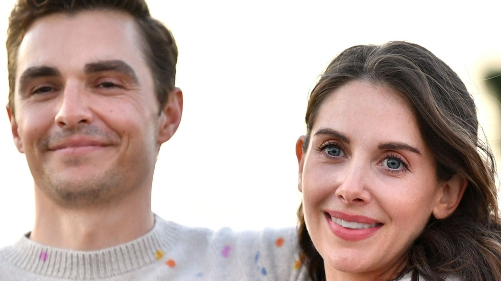 Alison Brie and Dave Franco smiling