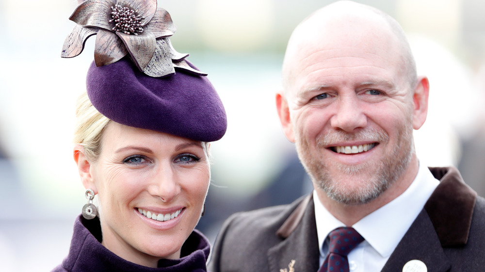 Zara Philips and Mike Tindall at a royal event