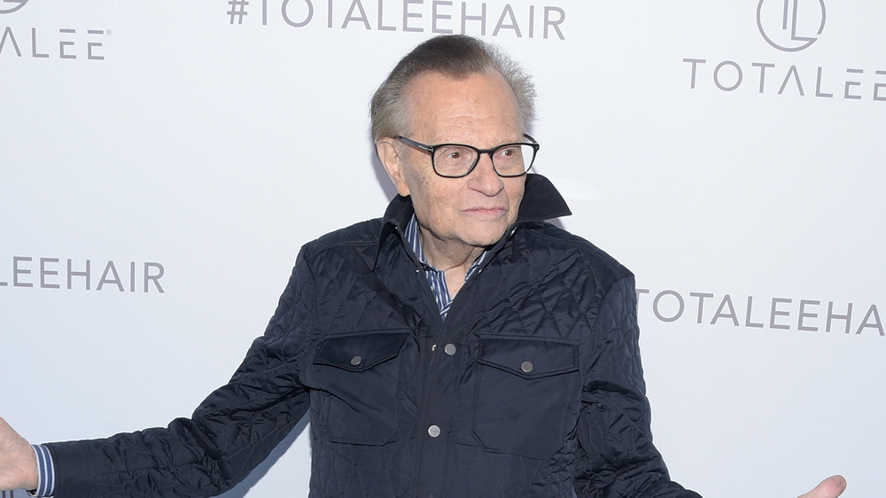 Larry King attending an event