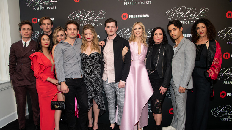 The cast of The Perfectionists at the premiere
