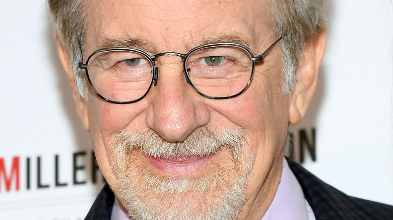 Steven Spielberg with glasses and facial hair