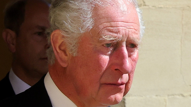 Prince Charles looking serious