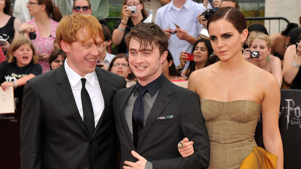 Daniel Radcliffe with Harry Potter co-stars