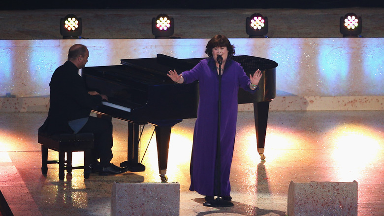 Susan Boyle with pianist