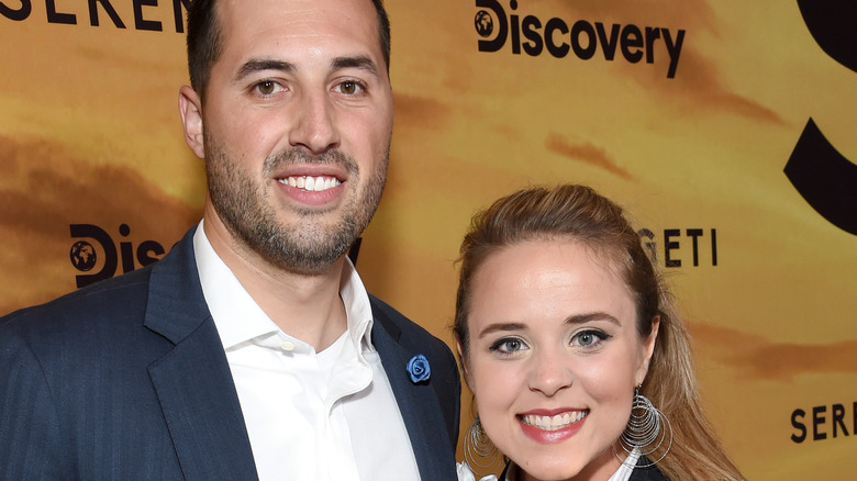 Jinger Duggar and Jeremy Vuolo smiling on the red carpet