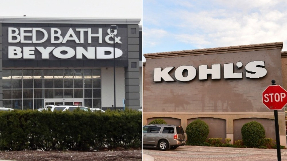 Bed Bath & Beyond and Kohl's storefronts