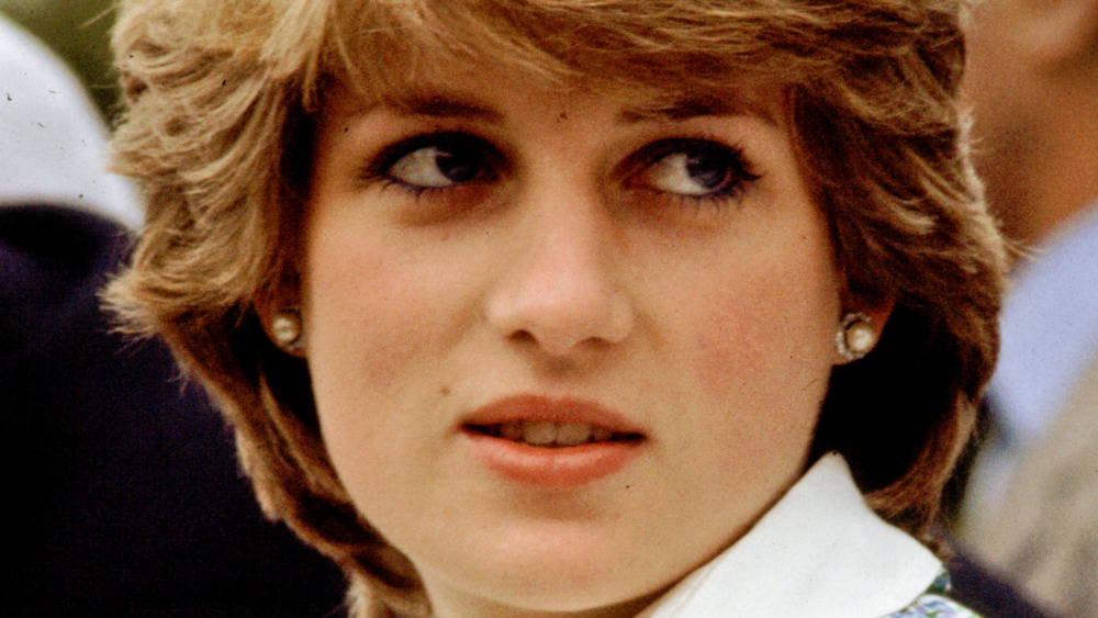 Princess Diana looking to the side