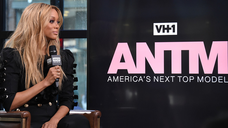 Tyra Banks speaks at ANTM event