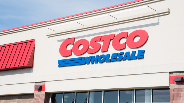 front of Costco warehouse
