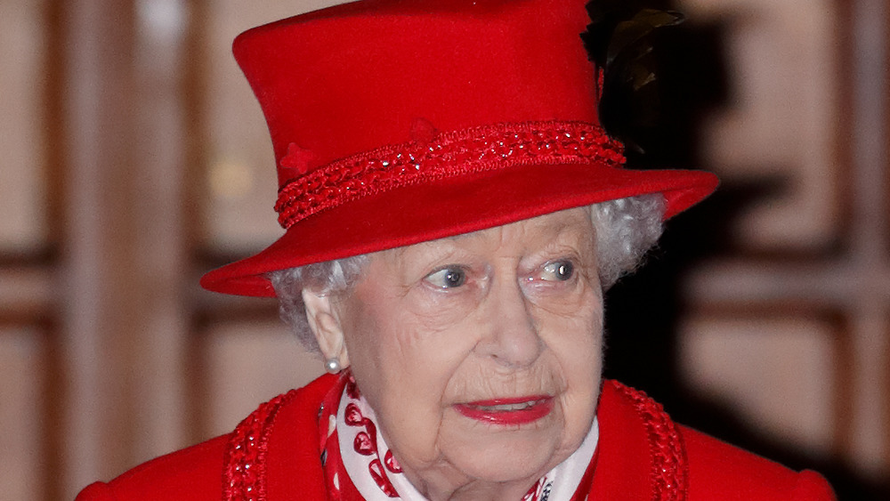 Queen Elizabeth II looking sideways